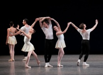 New York City Ballet in 'Le Tombeau de Couperin.' Photographer: Paul Kolnik.
