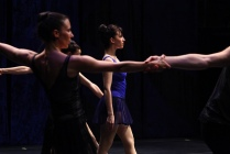 Ashley Tuttle (center) in %22Untitled (The Blue Ballet)-photo by Paula Court